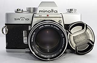 Minolta SRT-101 Working And In Nice Shape Camera Body With 58mm Lens Case Flash And Carrying Bag