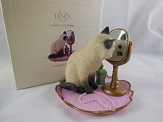 Lenox Cat Fairest Feline Siamese Cat Figurine with Mirror