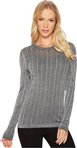MICHAEL Michael Kors - Metallic Crew Neck