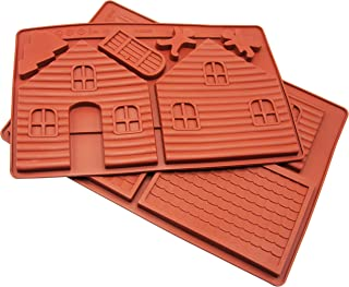 Silicone Christmas Gingerbread House Cake Pan, Baking Mold Nonstick Silicone Baking Pan Homemade Cake Decorating Tools