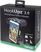 Carson HookUpz 2.0 Universal Smartphone Optics Digiscoping Adapter for Binoculars, Spotting Scopes, Telescopes, Microscope...