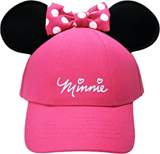cb8666069cbab Disney Youth Hat Kids Cap with Mickey or Minnie Mouse Ears (Minnie Pink)