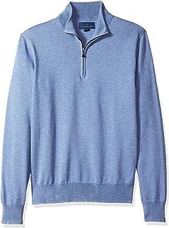 Buttoned Down Suéter Supima® de algodón con Cierre de Cuarto Suéter para Hombre