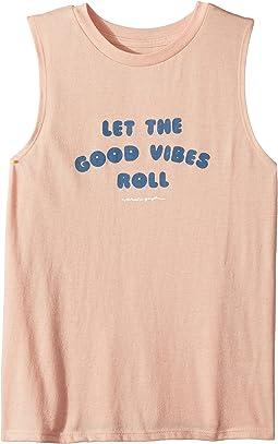 Spiritual Gangster Kids Vibes Roll Tank Top (Toddler/Little Kids/Big Kids)