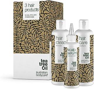 Australian Bodycare 3 produkter mot mjäll, klåda och torr och kliande hårbotten | Tea Tree Oil Allt du behöveri ett paket...