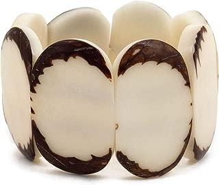 ORGANIC TAGUA JEWELRY Carved Disc Bracelet Ivory, 1 Each