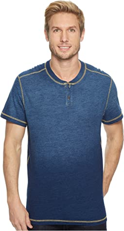 Agave Denim Durban Short Sleeve Three-Button Henley