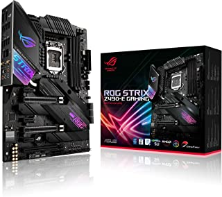 ASUS ROG Strix Z490-E Gaming Z490 (WiFi 6) LGA 1200 (Intel 10th Gen) ATX Gaming Motherboard (14+2 Power Stages, DDR4 4600,...