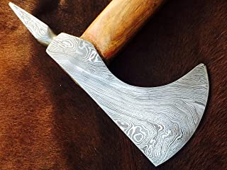 ColdLand Knives   Custom Hand Forged Damascus Steel Damascus Axe (Solidly Built for Tough use Such as Tracking, Camping, Outdoor Sports, Survival and Bush Craft Activities) CLX06