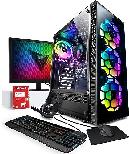 Vibox I-2 PC Gamer - Écran Pack - Quad Core Ryzen Processeur - Radeon Vega 8 Graphique - 8Go RAM - 1To Disque Dur - W...