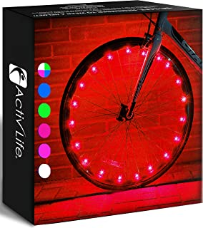 Activ Life LED Bike Wheel Lights with Batteries Included! Get 100% Brighter and Visible from All Angles for Ultimate Safet...