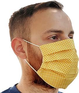 Lilind Maschera per il viso alla Moda, Handmade, Riutilizzabile, 100% Cotone