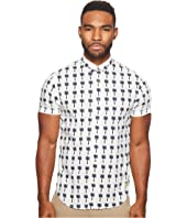 Scotch & Soda - Classic Short Sleeve Shirt in Crispy Poplin Quality with Mini