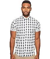 Scotch & Soda - Classic Short Sleeve Shirt in Crispy Poplin Quality with Mini