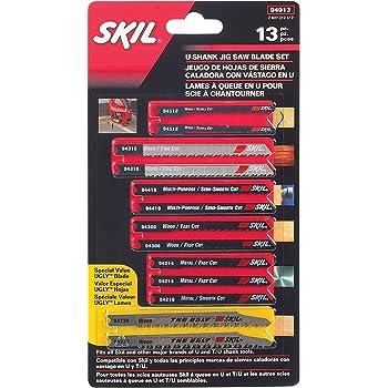 SKIL 94913 U-shank Jigsaw Blade Set, 13 Piece