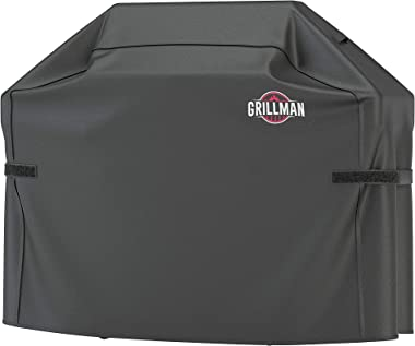 Grillman Premium (58 Inch) BBQ Grill Cover, Heavy-Duty Gas Grill Cover For Weber, Brinkmann, Char Broil etc. Rip-Proof , UV &
