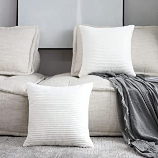 Off White Textured Throw Pillows