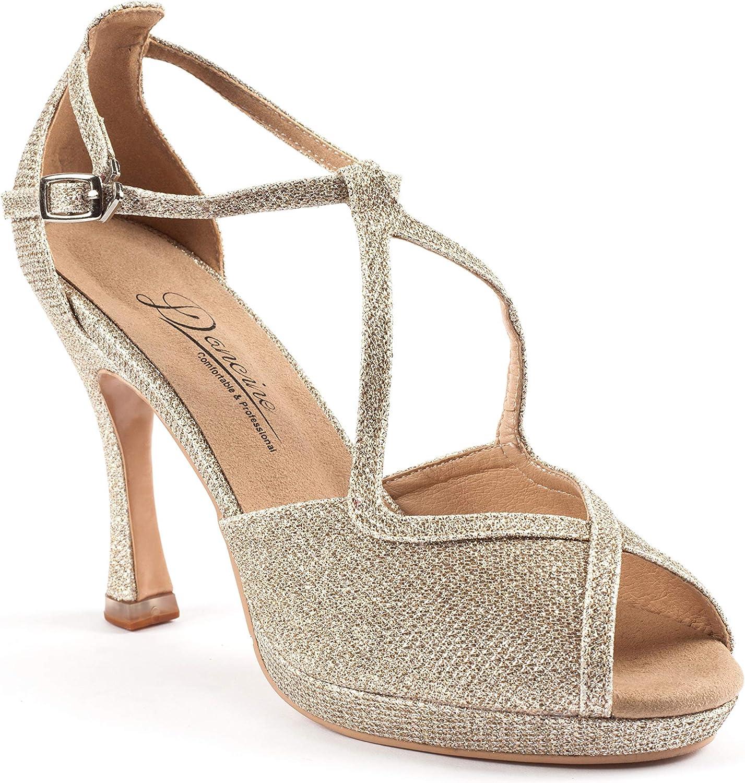 Dancine Lowest price challenge Glitz Party Evening Hybrid High Wedding Ballroom B Heels Max 59% OFF