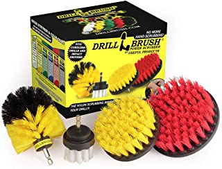 Drillbrush Drill Brush Scrub Brush Drill Attachment Kit - Drill Powered Cleaning Brush Attachments - Time Saving Cleaning ...