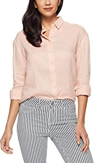 Jag Women's Linen Resort Shirt, Peach