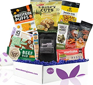 KETO Snack Box: Best Keto Sampler Snacks and Treats - Low Carb (5G or less) Low Sugar, High Fat Keto Friendly Snacks- Grea...