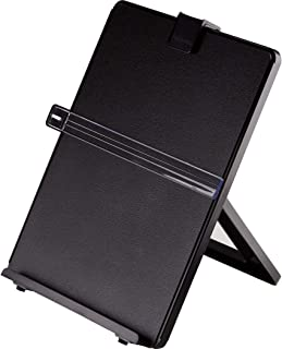 Fellowes Letter Sized Non-Magnetic Copyholder, Black (21106), 7.38 x 10.13 x 11.25 inches
