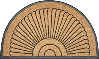 Envelor Half Round Door Mat, Rubber Coir Non-Slip Entrance Mat, Heavy Duty Durable Doormat, Dirt Trapper Outdoor and Indoo...