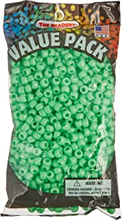 The Beadery 6 by 9mm Barrel Pony Bead, Lime, 900-Pieces
