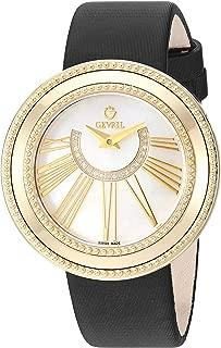 Women's Fifth Avenue Gold Tone Swiss Quartz Watch with Satin Strap, Black, 18 (Model: 3146.2)