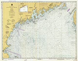 Map - Bay Of Fundy To Cape Cod, 1980 Nautical NOAA Chart - New Hampshire, Maine, Massachusetts (NH, ME, MA) - Vintage Wall Art - 44in x 36in