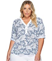Extra Fresh by Fresh Produce - Plus Size Daybreak Dockside Mingle Henley