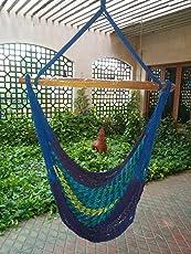Hangit Cotton Swing Chair (Ocean Blue, 50 Centimeters) (HMC 001)