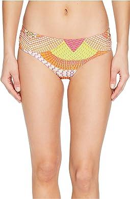 Havana Geo Ruched Bikini Bottom