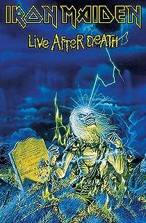 Iron Maiden Textile Flag Live After Death Official Blue Poster 65Cm X 105Cm