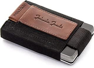 JAIMIE JACOBS Mini Wallet Nano Boy Minimalistic Slim Wallet Thin Credit Card Holder Men (Dark Brown)