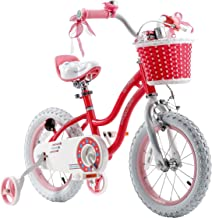 RoyablBaby Stargirl Girl's Bike with Training Wheels or Kickstand