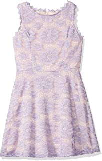 Amy Byer Girls' Big Fit & Flare Allover Lace Dress