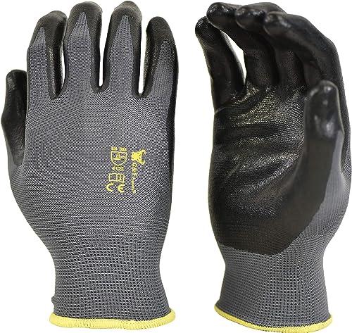 G & F Products 6 PAIRS Men's Working Gloves with Micro Foam Coating - Garden Gloves Texture Grip - men's Work Glove F...