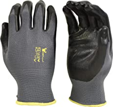 6 PAIRS Men's Working Gloves with Micro Foam Coating – Garden Gloves Texture..