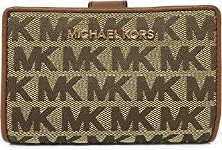 Michael Kors Jet Set Travel Bifold Zip Coin Monogram Wallet