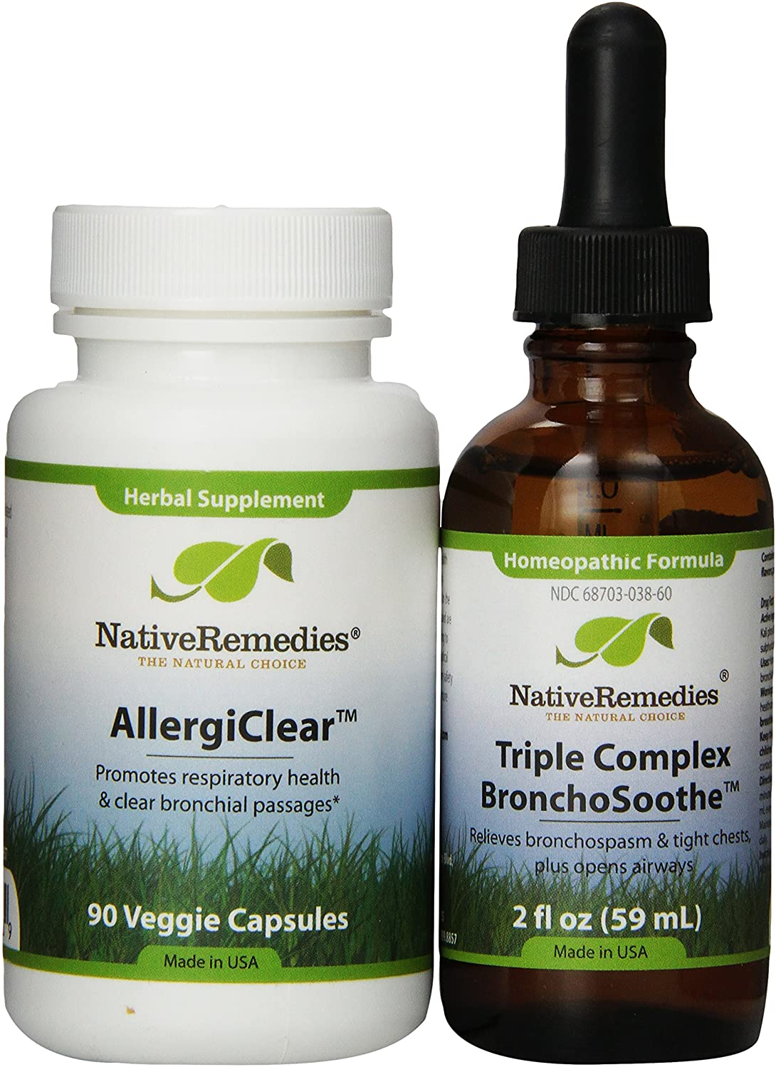 Native Remedies San Diego Mall AllergiClear and oz fl specialty shop BronchoSoothe 2