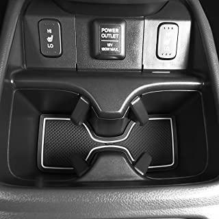 CupHolderHero for Honda CR-V CRV 2012-2014 Custom Fit Cup Holder, Door, and Center Console Liner Accessories 18-pc Set (White Trim)