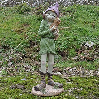 1 Paar magische Feenfiguren Kobold-Skulpturen zur Wandbefestigung H/öhe 20/cm 2er-Set Junge /& M/ädchen hochwertige Gartendekoration