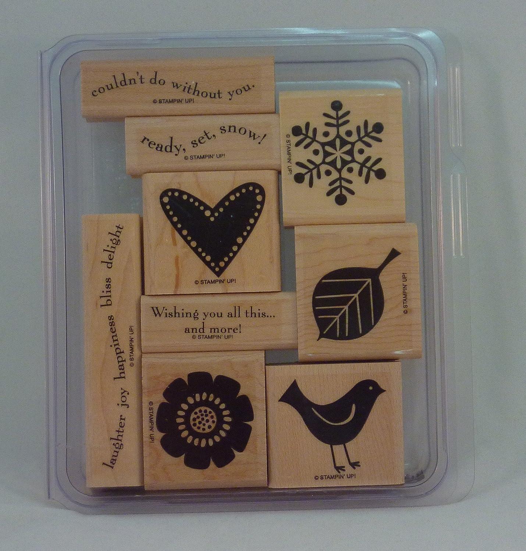 Stampin' Up BEST WISHES Popular overseas MORE Set Nashville-Davidson Mall of Decorative Rubber Stamp 9