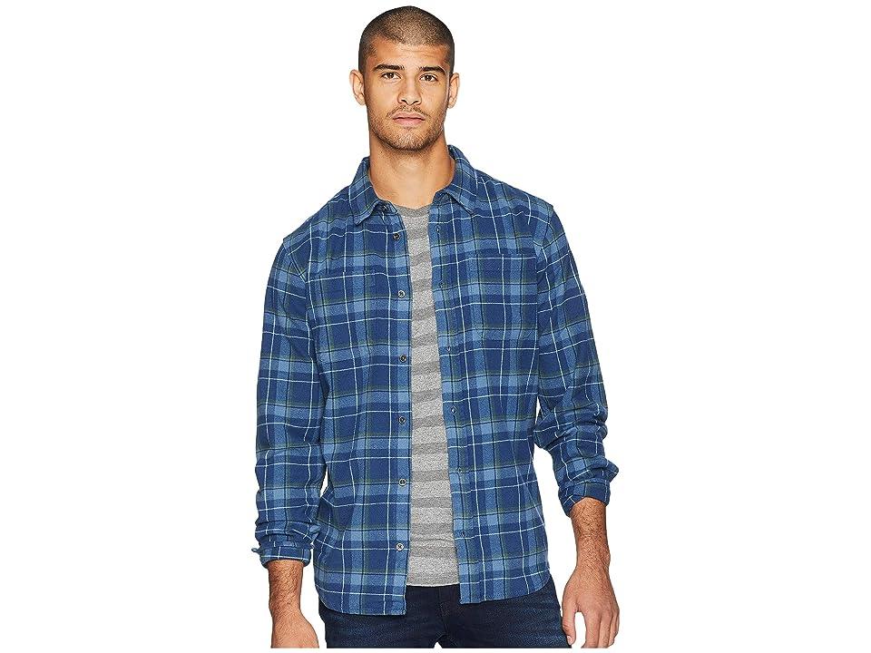 Prana Brayden Long Sleeve Flannel Shirt (Equinox Blue) Men
