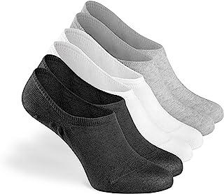 GSOTTA, Calcetines invisibles 6 paquetes, calcetines para mujeres y hombres, calcetines unisex, invisibles y antideslizantes, que no se muestran, hechos de algodón