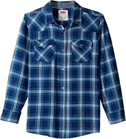 Barstow Plaid Woven Top (Big Kids)