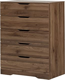 South Shore Holland 5-Drawer Chest, Natural Walnut
