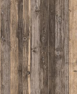 Blooming Wall Faux Vintage Barnwood Wood Wallpaper Rolls Wood Panel Wallpaper Wall Murals for Home Decorations,20.8 In32.8 Ft=57 Sq.ft