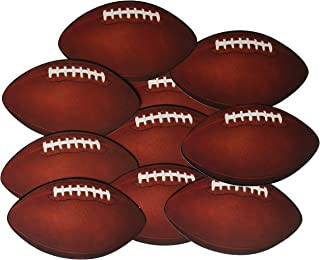 Beistle 57079 10-Pack Miniature Football Cutouts for Parties, 4-1/2-Inch